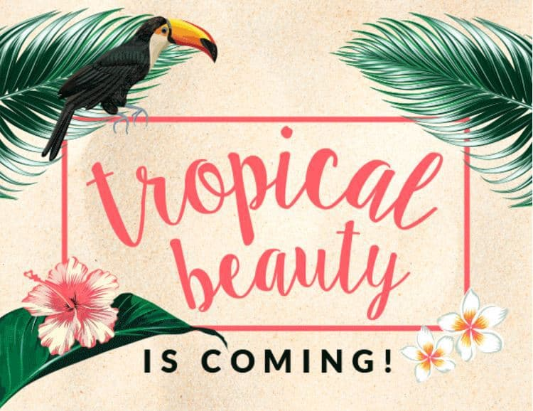 GLOSSYBOX July 2017 Box Theme - Tropical Beauty