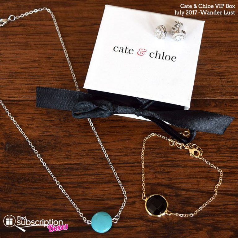 July 2017 Cate & Chloe VIP Box Review - Wander Lust - Box Contents