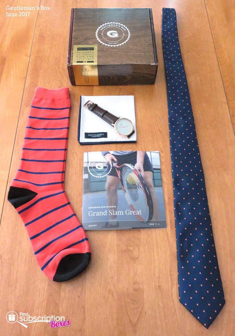 June 2017 Gentleman's Box Review - Box Contents