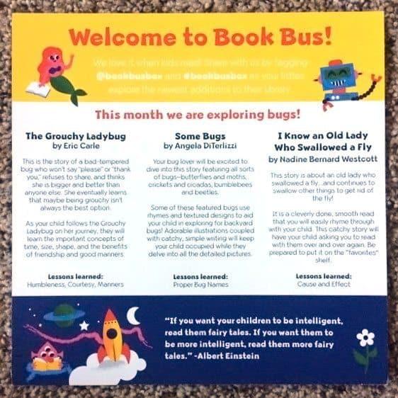 June 2017 Book Bus Review - Card