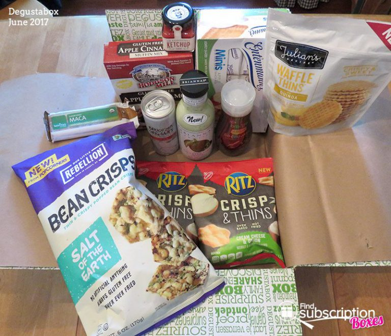 June 2017 Degustabox Review - Box Contents