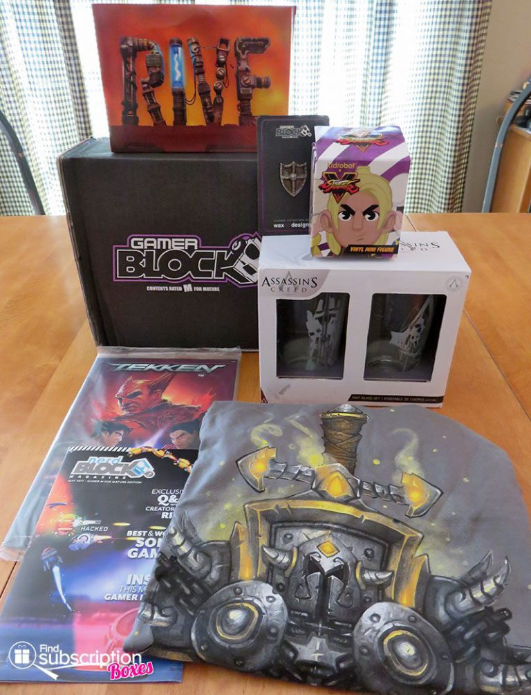May 2017 Gamer Block M for Mature Review - Box Contents