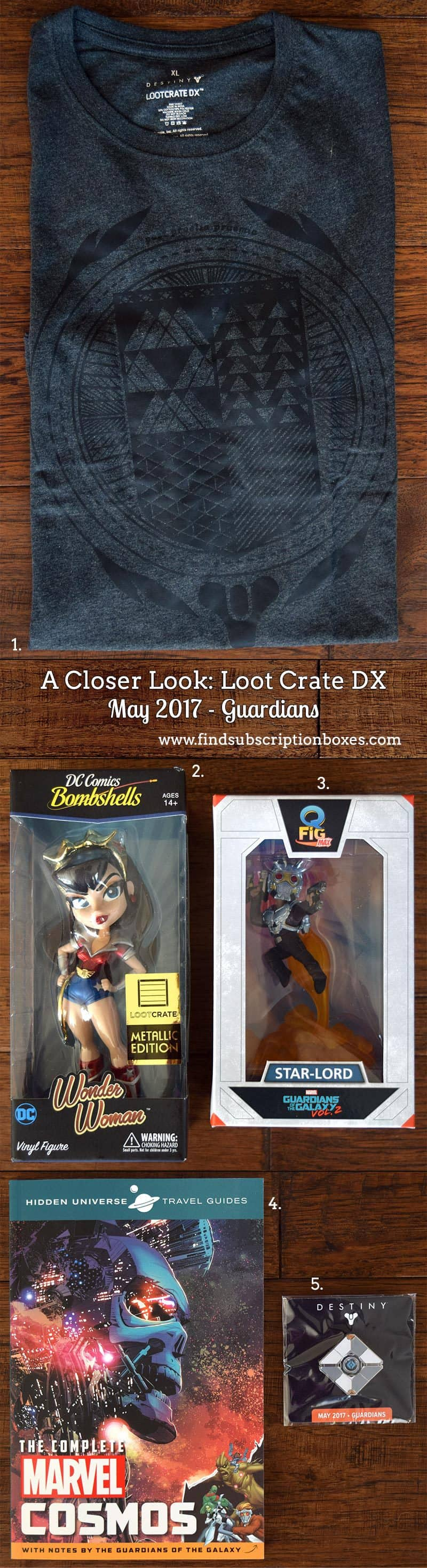 May 2017 Loot Crate DX Review - Guardians Crate - Inside the Box