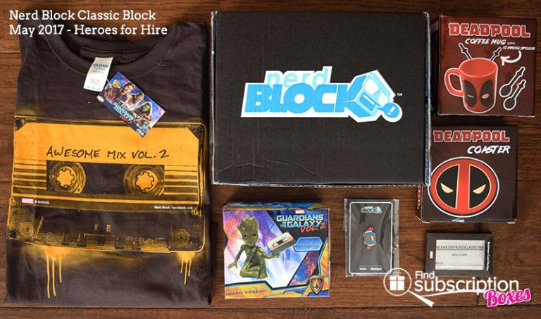 May 2017 Nerd Block Classic Review – Heroes for Hire - Box Contents