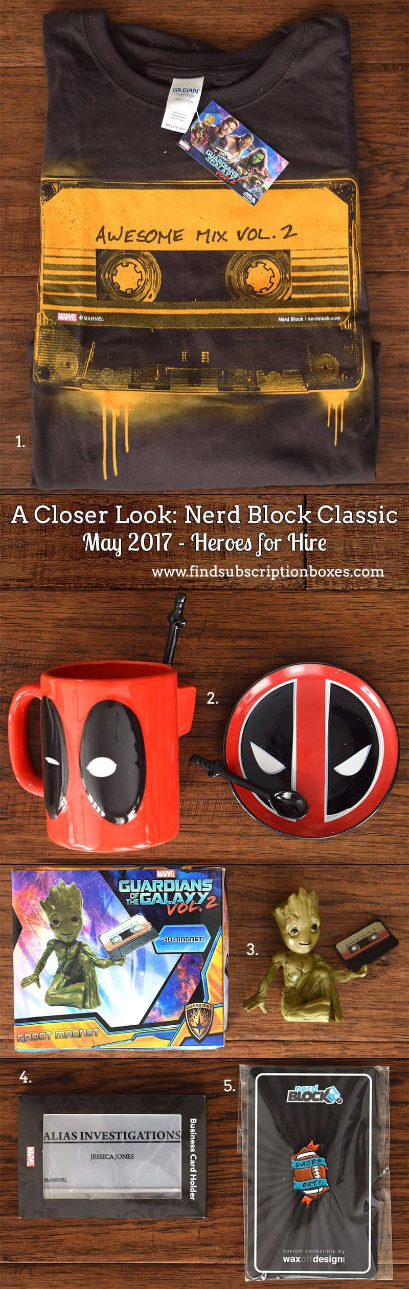 May 2017 Nerd Block Classic Review – Heroes for Hire - Inside the Box