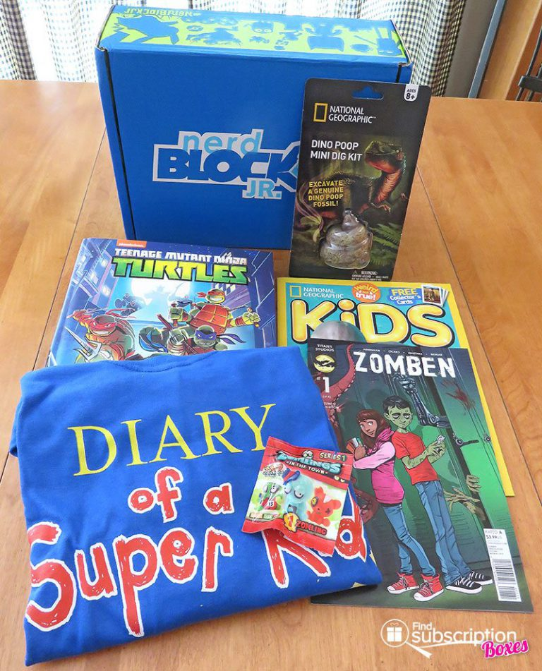 May 2017 Nerd Block Jr. for Boys Review - Box Contents