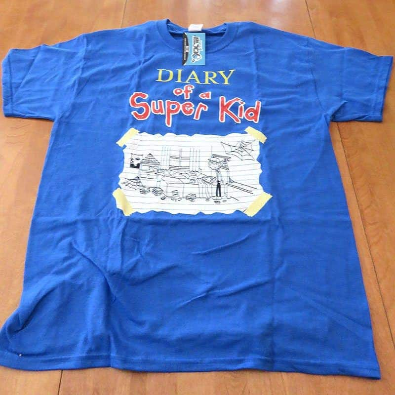 May 2017 Nerd Block Jr. for Boys Review - Diary of a Super Kid Shirt