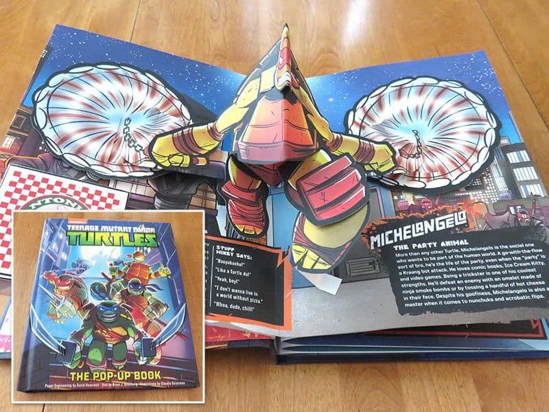 May 2017 Nerd Block Jr. for Boys Review - TMNT Pop-up Book