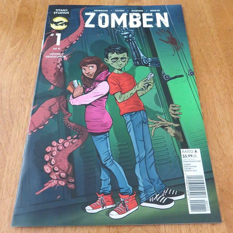 May 2017 Nerd Block Jr. for Boys Review - ZOMBEN Comic Book