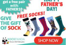 Sock Panda Father's Day Sale - Save 10% Off + Free Socks