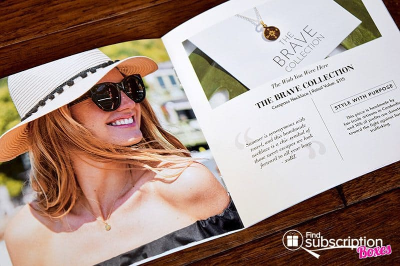 The Zoe Report Summer 2017 Box of Style Review - Brochure