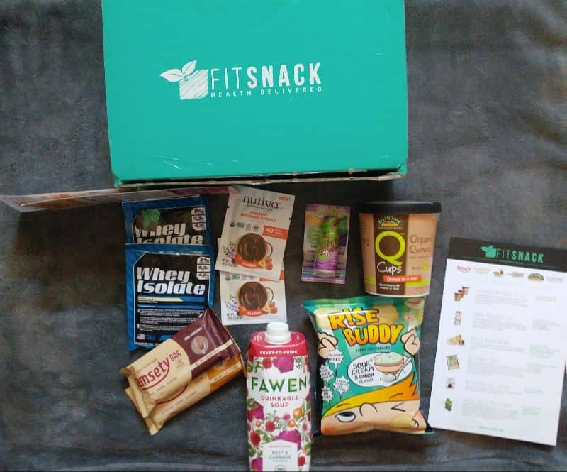 June 2017 Fit Snack Review - Box Contents