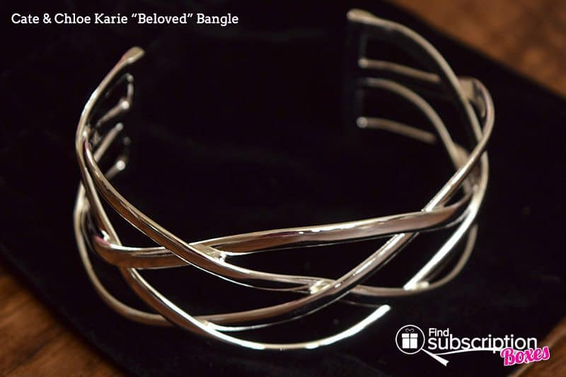"August 2017 Cate & Chloe VIP Box Review – Summer Reminiscence - Karie ""Beloved"" Bangle"