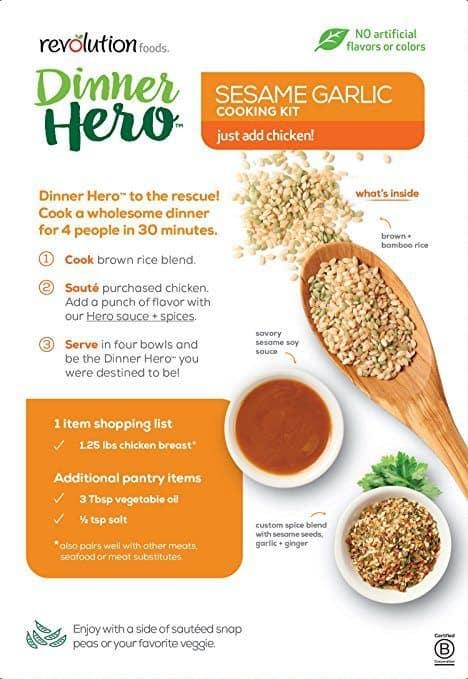 August 2017 Love With Food Spoilers - Revolution Foods Dinner Hero Kit