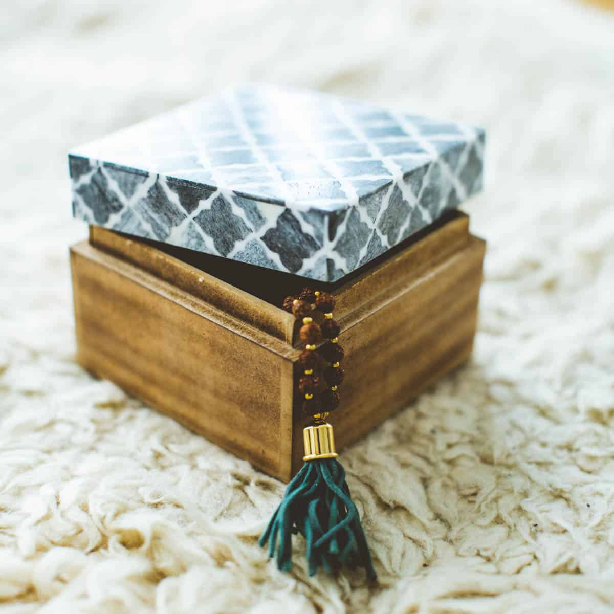 GlobeIn August 2017 Accent Artisan Box Spoiler - Wood & Bone Box