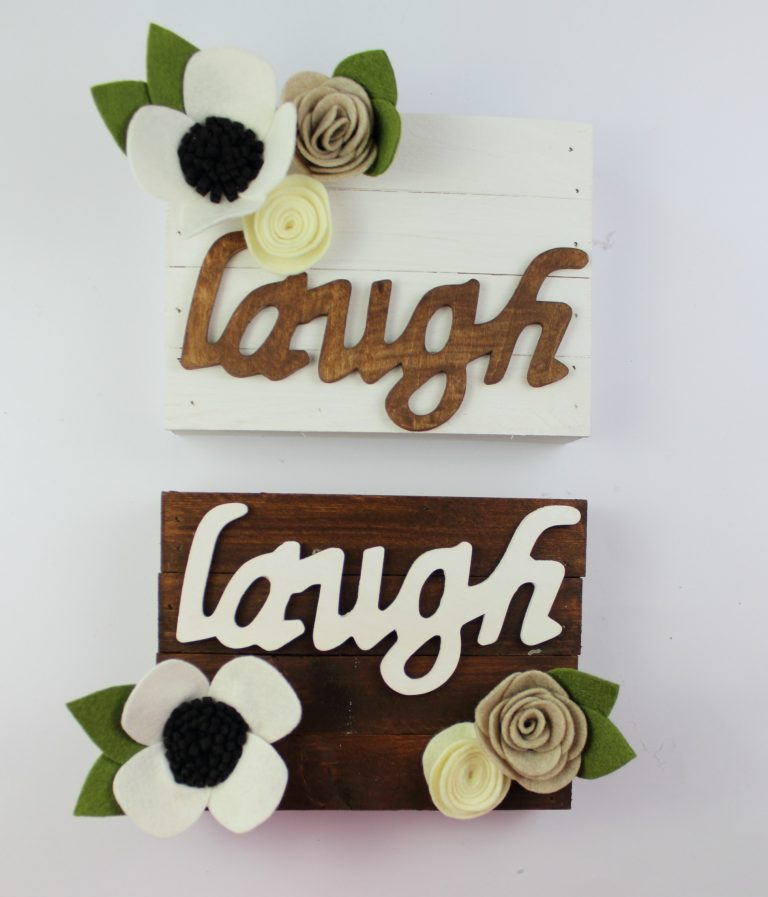 Home Made Luxe August 2017 Spoiler - Inspirational Floral Pallet Sign
