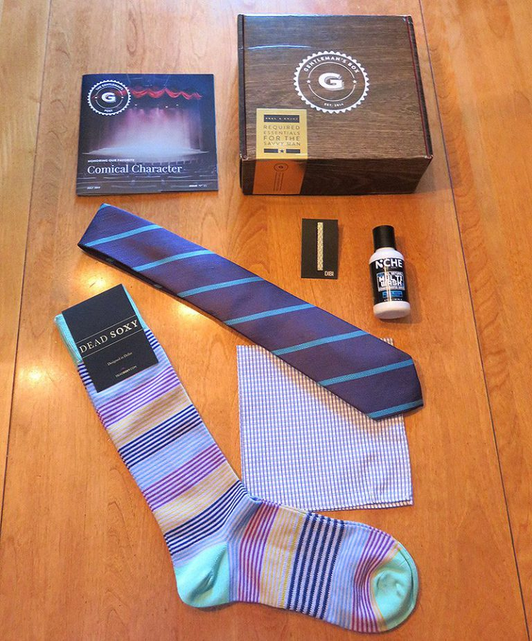 July 2017 Gentleman's Box Review - Box Contents