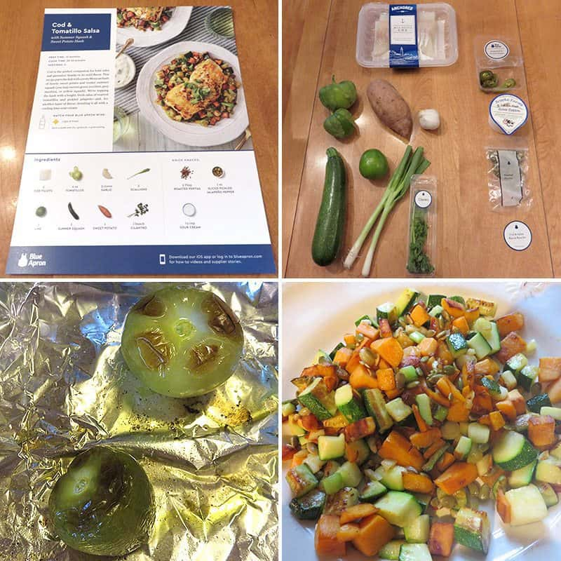 June 2017 Blue Apron Review - Cooking Cod & Tomatillo Salsa