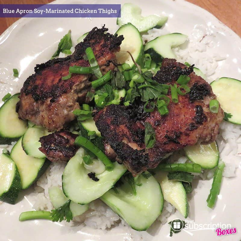 June 2017 Blue Apron Review - Soy Marinated Chicken