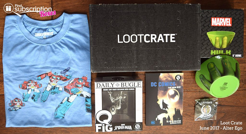 June 2017 Loot Crate Review – Alter Ego Crate - Box Contents
