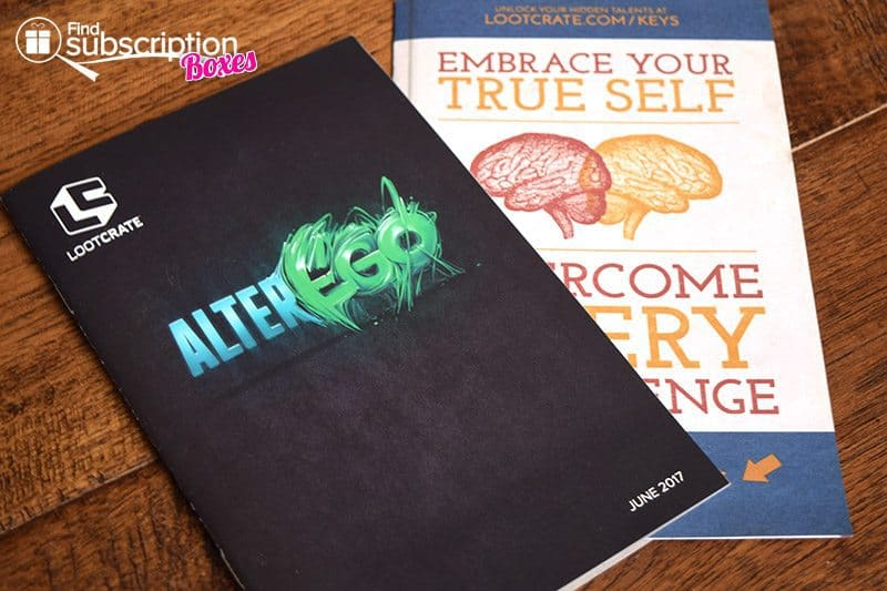 June 2017 Loot Crate Review – Alter Ego Crate - Brochure