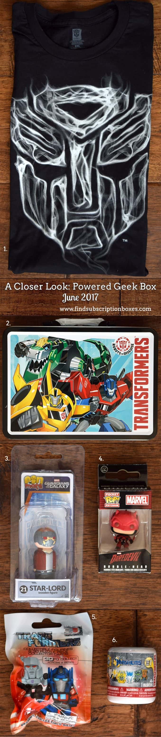June 2017 Powered Geek Box Review - Inside the Box