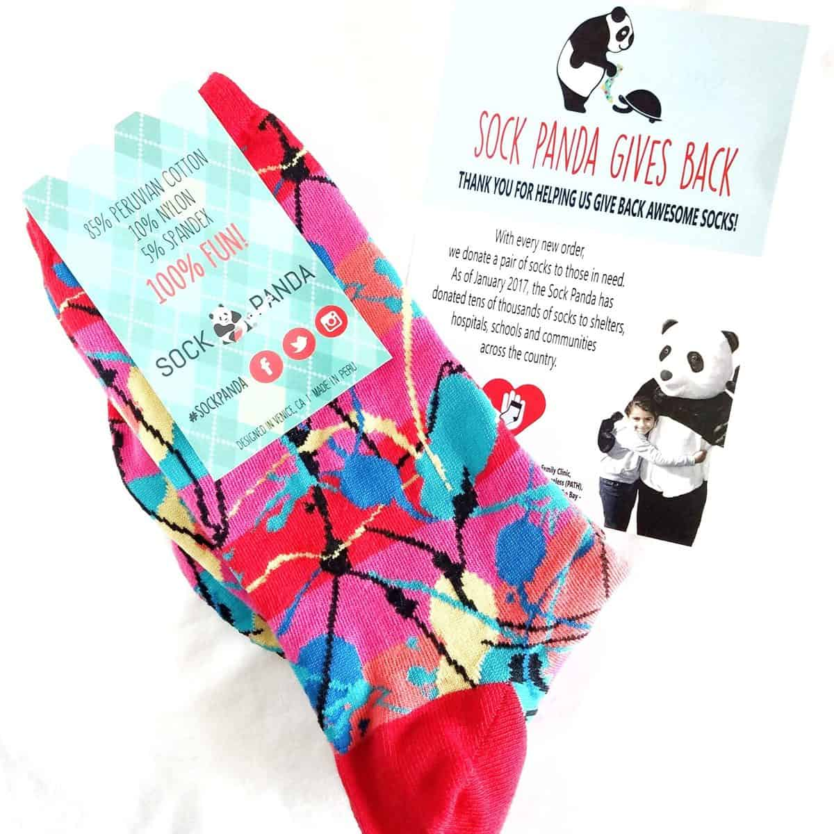 August 2017 Sock Panda Review - Donation Flyer