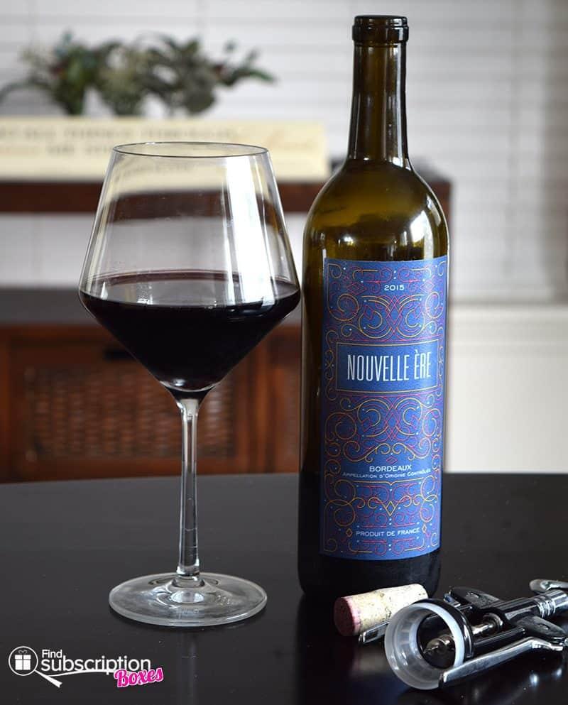 April 2017 Winc Review - 2015 Nouvelle Ère Bordeaux Blend