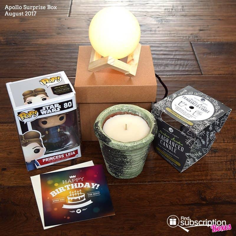 August 2017 Apollo Surprise Box Review - Box Contents