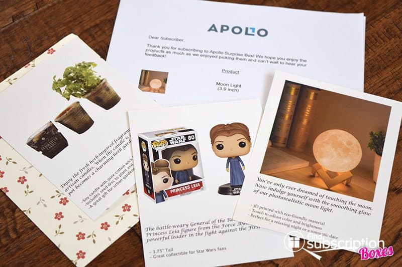 August 2017 Apollo Surprise Box Review - Cards