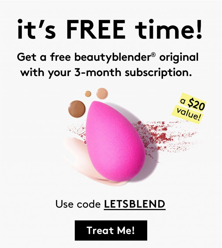 August 2017 Birchbox Free Gift - Free BeautyBlender
