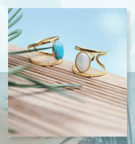 August 2017 Emma & Chloé Spoiler - Stone Ring by Leslie Khayat (HELLES)