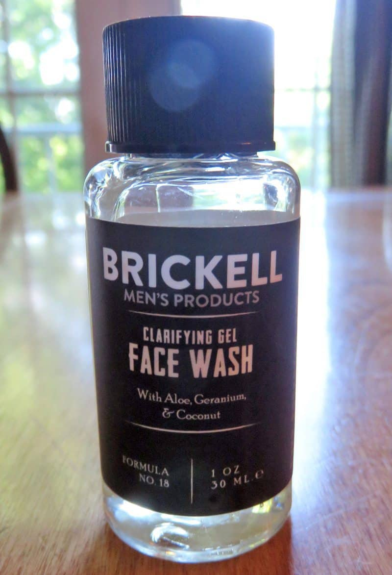 August 2017 Gentleman's Box Review - Brickell Face Wash