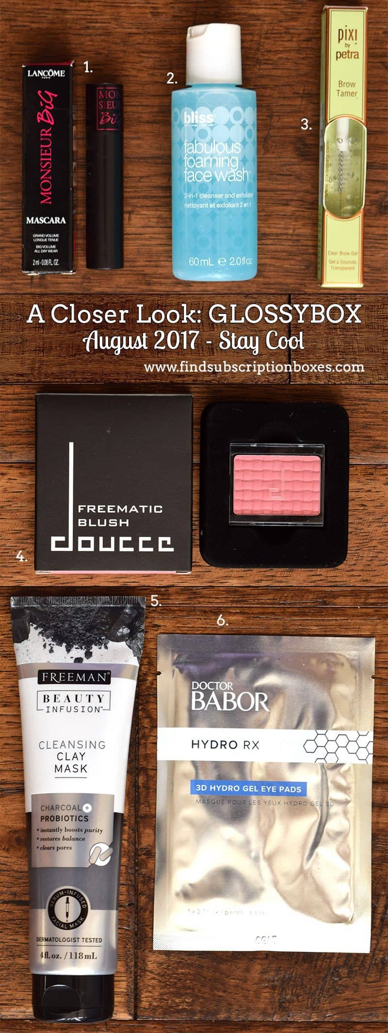 August 2017 GLOSSYBOX Review - Inside the Box