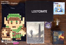 August 2017 Loot Crate Review – Kingdom - Box Contents