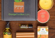 August 2017 Orange Peel Box Review - Rejuvenation - Box Contents