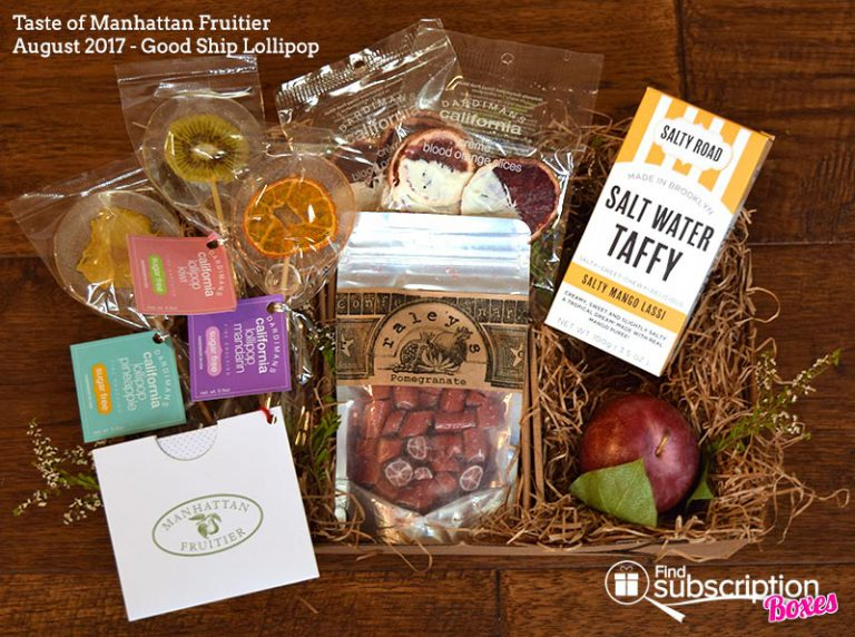 August 2017 Taste of Manhattan Fruitier Review - Good Ship Lollipop - Box Contents