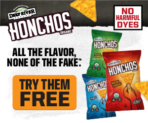 HONCHOS Free Trial - Try All 3 Flavors of HONCHOS Organic Tortilla Chips FREE