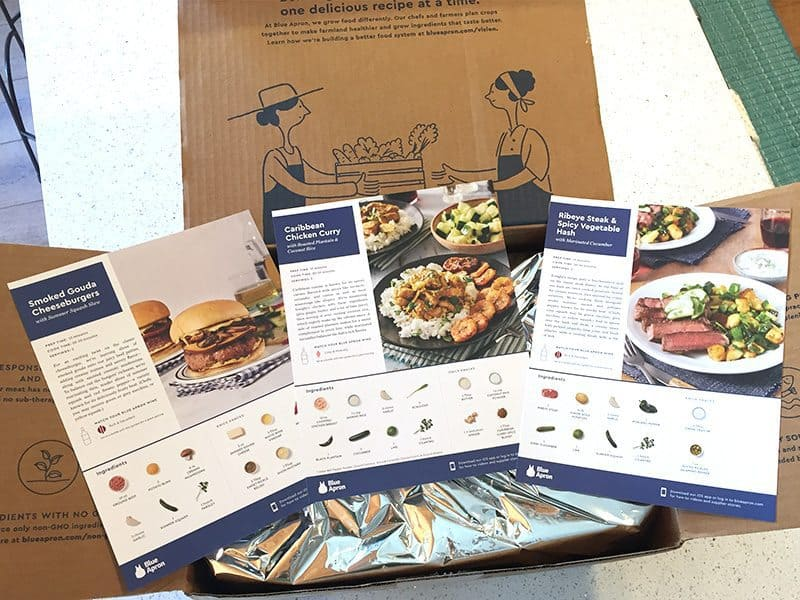July 2017 Blue Apron Review - Recipes
