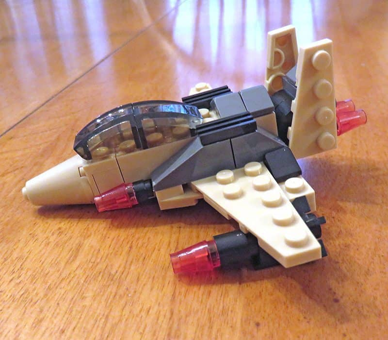 July 2017 Brick Loot Review - Home of the Free Because of the Brave - Moc Bomber Brick Loot build