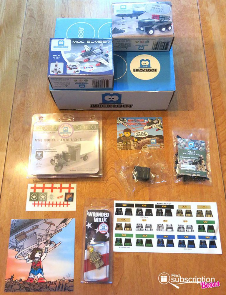 July 2017 Brick Loot Review - Home of the Free Because of the Brave - Box Contents