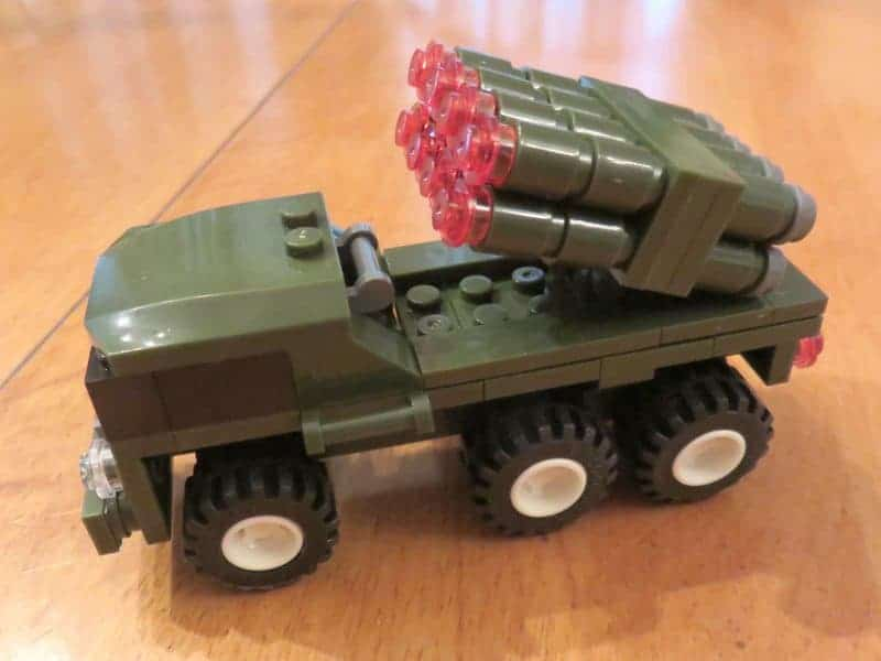 July 2017 Brick Loot Review - Home of the Free Because of the Brave - Mobile Missile Defense vehicle
