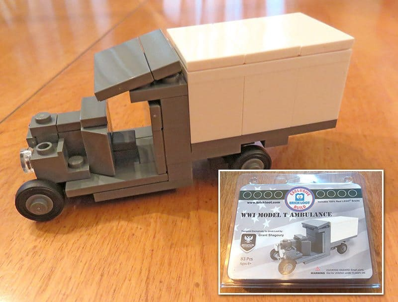 July 2017 Brick Loot Review - Home of the Free Because of the Brave - WWI Model T Ambulance