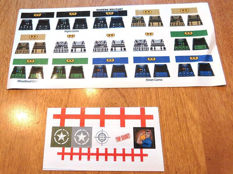 July 2017 Brick Loot Review - Home of the Free Because of the Brave - Sticker Sheet