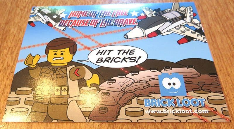 July 2017 Brick Loot Review - Home of the Free Because of the Brave - Sticker