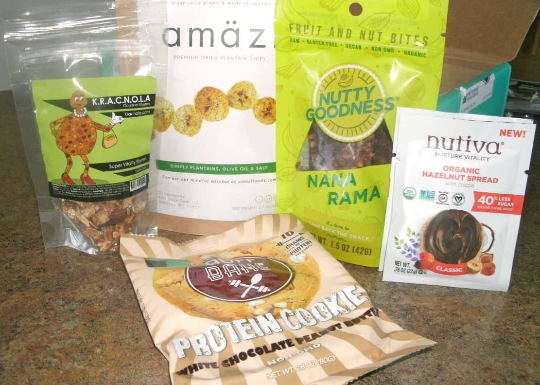 July 2017 Fit Snack Review - Snacks