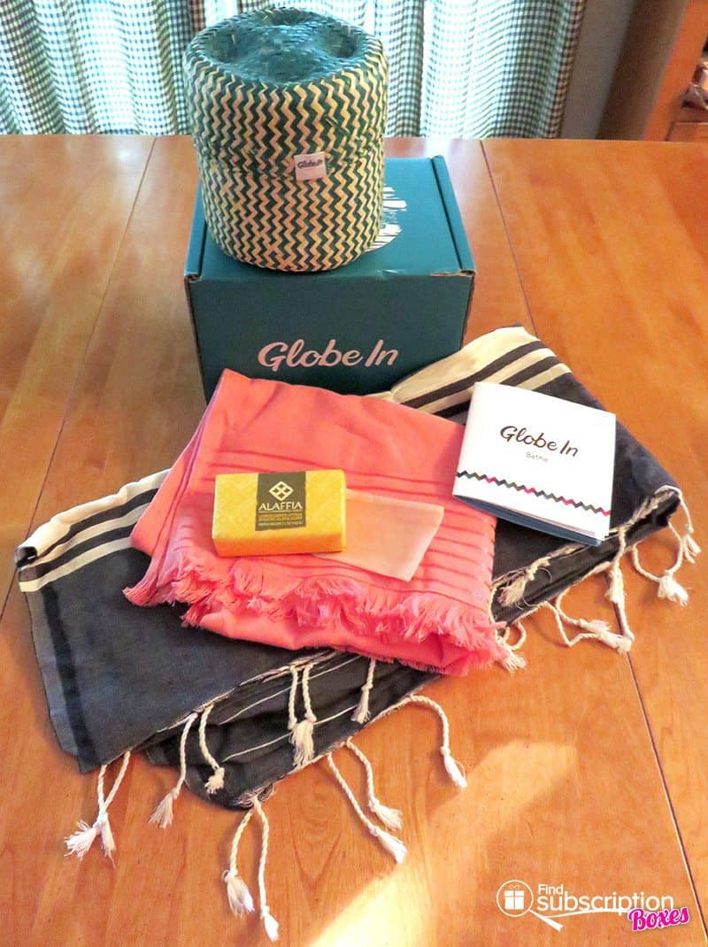 July 2017 GlobeIn Artisan Box Review – Bathe - Box Contents