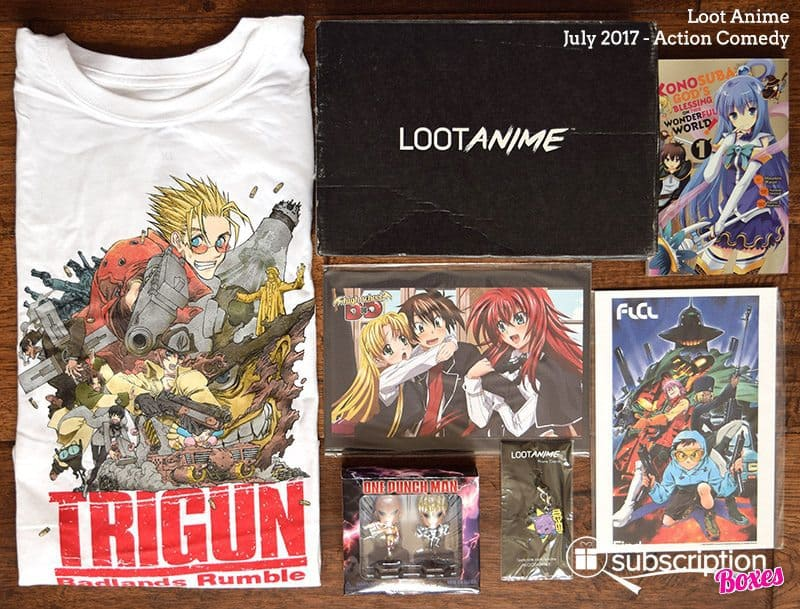 July 2017 Loot Anime Review – Action Comedy - Box Contents