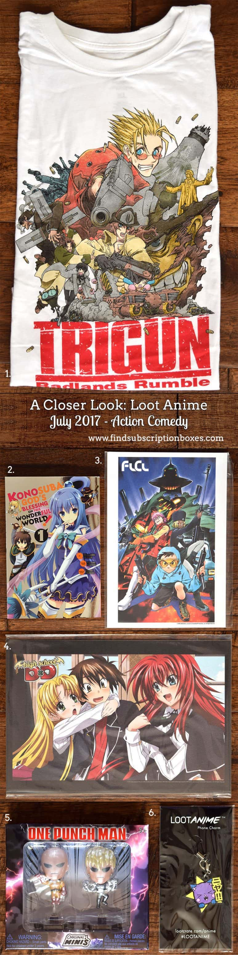 July 2017 Loot Anime Review – Action Comedy - Inside the Box