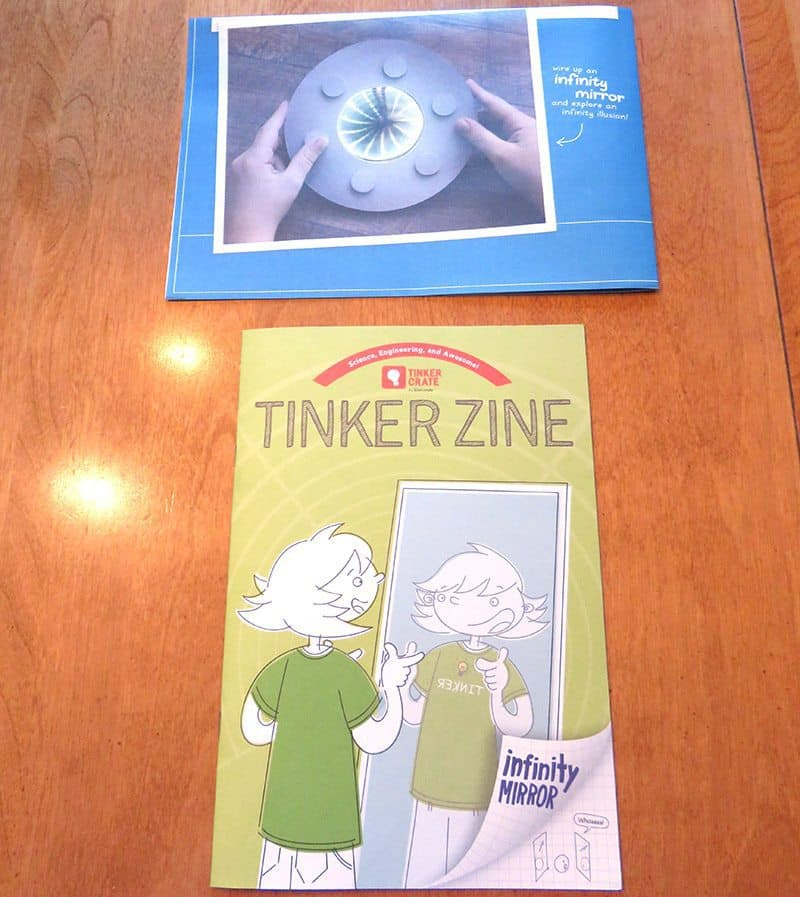 July 2017 Tinker Crate Review - Infinity Mirror - Instructions & Tinker Zine